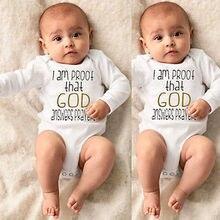 God/спортивный комбинезон для новорожденных девочек и мальчиков, костюмы с длинным рукавом, топы, подгузники, на возраст от 0 до 18 месяцев