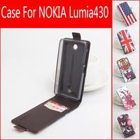 Painted Fashion New Original For Microsoft Lumia 430 Leather Case Flip Cover For Microsoft Nokia Lumia