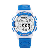 1c3ecfdebdb1 HONHX moda Niño LED Digital analógico de cuarzo de la alarma reloj de  muñeca deportivo para
