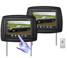 high quality 9 Inch Universal LCD Wide Screen Car Headrest Monitor DVD Player USB/SD Games with Remote-black/gray/beige/brown