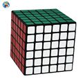 2016 Marca 6-capas Shengshou Cubo Mágico Profesional 6.7 cm 6x6x6 Cubo (PVC Sticker) Blanco/negro Cubo Juguetes educativos 6x6x6 Cubo