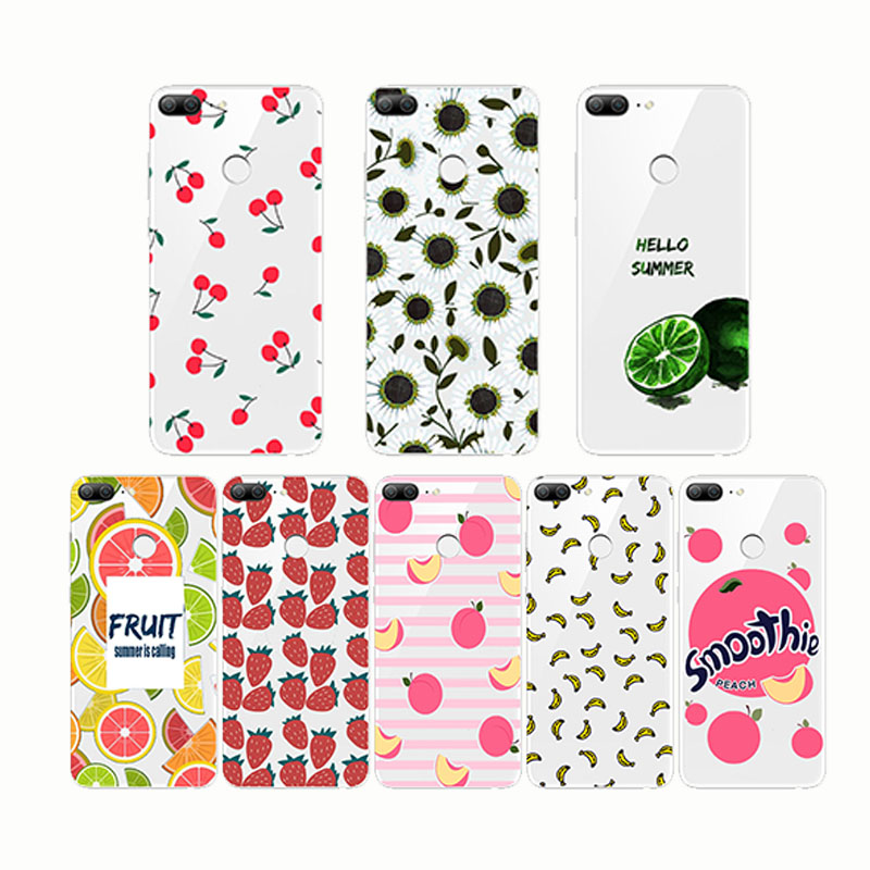 Summer Fruit Smoothie Peach Cherry lemon Banana Lemon Phone Case Fundas For huaweiHonor9 Honor10 lite  Honor8