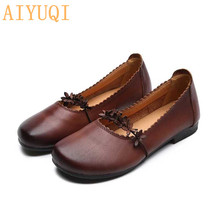 AIYUQI Shoes women loafers 2019 new genuine leather shoes for  moccasins sweet womens flat spring oxfords retro