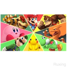 5d Diy Diamond Painting Mario Bros.,Pikachu cartoon characters stitching pictures Wall Stick MosaicEmbroideryHome Decor