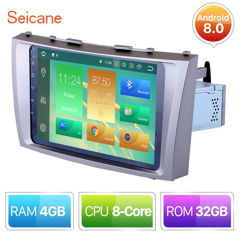Seicane 9 Inch Android 8.0 HD 1024*600 Car GPS multimedia Radio Navi player For 2007 2008 2009 2010 2011 Toyota CAMRY Support 3GSeicane 9 Inch Android 8.0 HD 1024*600 Car GPS multimedia Radio Navi player For 2007 2008 2009 2010 2011 Toyota CAMRY Support 3G