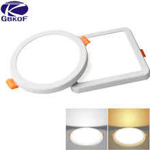 LED Panel Lights Ultrathin Surface Downlight 6W 8W 15W 20W 220V Square Round Panel Light White/Warm Indoor Bedroom LED Light(China)