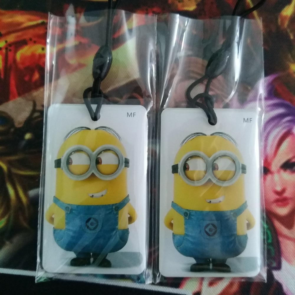 125Khz T5577/T5567/T5557/T5200 Rewritable RFID Keyfobs Key Tags Copy Clone Blank Card (Yellow Minions)