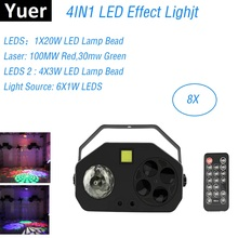 LED Effect Light Magic Ball Laser Pattern Strobe 4IN1 Flashlight Club Dj Disco Stage KTV Bar
