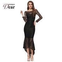 VJ1063 Comeondear Robe De Soiree Black White Mermaid Lace Dress Summer Plus Size Long Maxi Sexy Evening Party Womens Dresses