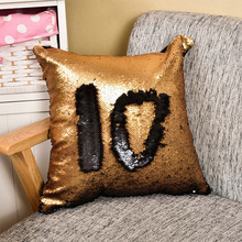 double two side sequins Meraid sequins pillow cushion sofa car decoration cushion
