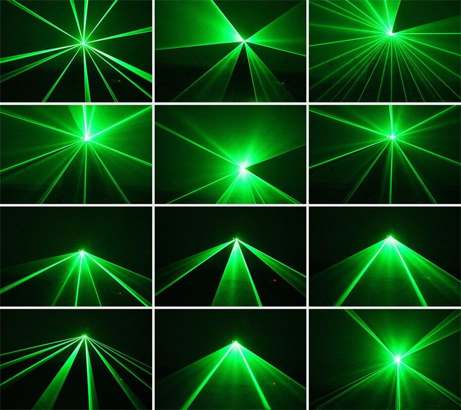 ALIEN Remote 50mw Green Laser Projector Professional Stage Lighting Effect DMX 512 Scanner DJ Disco Party Show Lights