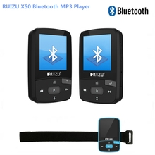 Original RUIZU X50 Mini Sport Clip Bluetooth mp3 player 8GB music player Support TF Card, FM Radio, Recording, E-book,Pedometer