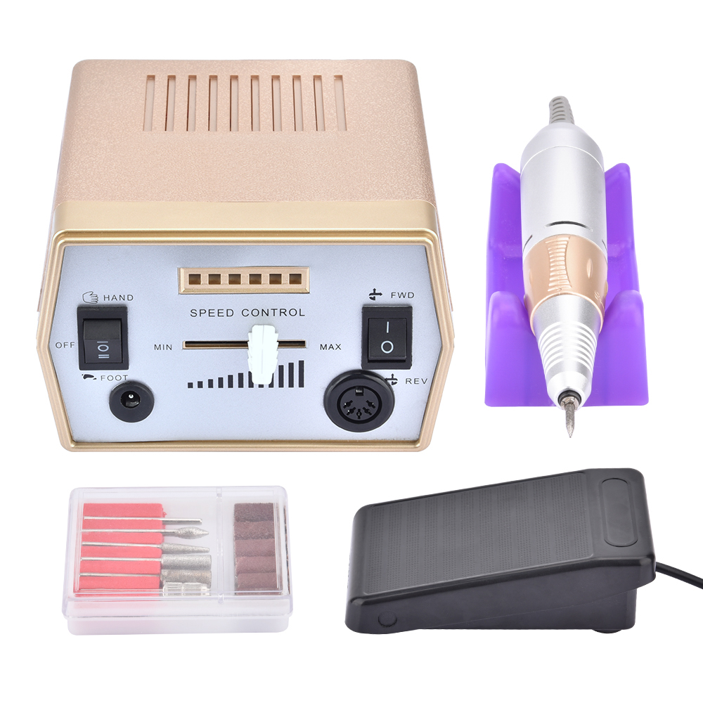 Professional Electric Nail Art Drill Pedicure Manicure Machine Nail Cutter Bit Sanding Apparatus Tools Set Nail Gel Art Tools electric nail drill machine manicure pedicure portable nail art tools strong polishing machine cutter drill file bits set nails