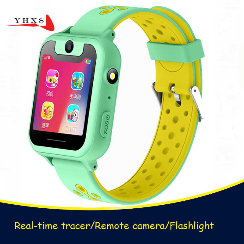 2018 Touch Screen Smart Real-time GPRS Tracker Location SOS Call Remote Monitor Camera Flashlight Watch Wristwatch for Kid Child