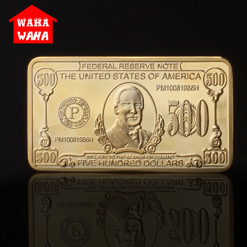 Gold Bar Bullion 24k Gram Fine 1899 Year 5 Dollars for Christmas Present