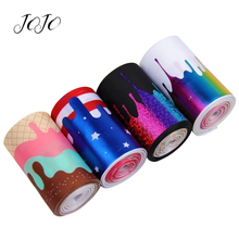 JOJO BOWS 75mm 2y Grosgrain Ribbon Cream Star Stripe Printed Bronzing Tape For Handmade Crafts Gift Card Wrapping DIY Hair Bows