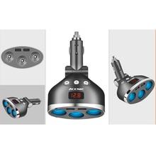 12V-24V 3.4A Car Cigarette Lighter Socket Splitter Plug Dual USB Charger Adapter 120W For Phone MP3 DVR With Voltage Detection акриловая ванна santek эдера 170х110 см правая без монтажного комплекта 1wh111994