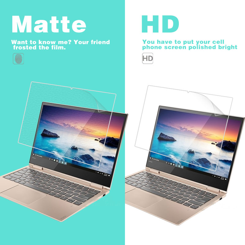 Anti-Fingerprint Matte Film For Lenovo YOGA 920 13.9 In HD Clear Glossy Film Front LCD Screen Protector Film + Cleaning Cloth