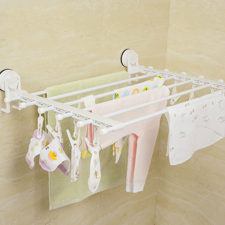 Multifunction Wall Mounted Baby Sock Drying Rack Windproof Towel Holder Foldable Movable Bath Towel Holder Suction  Towel HangerMultifunction Wall Mounted Baby Sock Drying Rack Windproof Towel Holder Foldable Movable Bath Towel Holder Suction  Towel Hanger