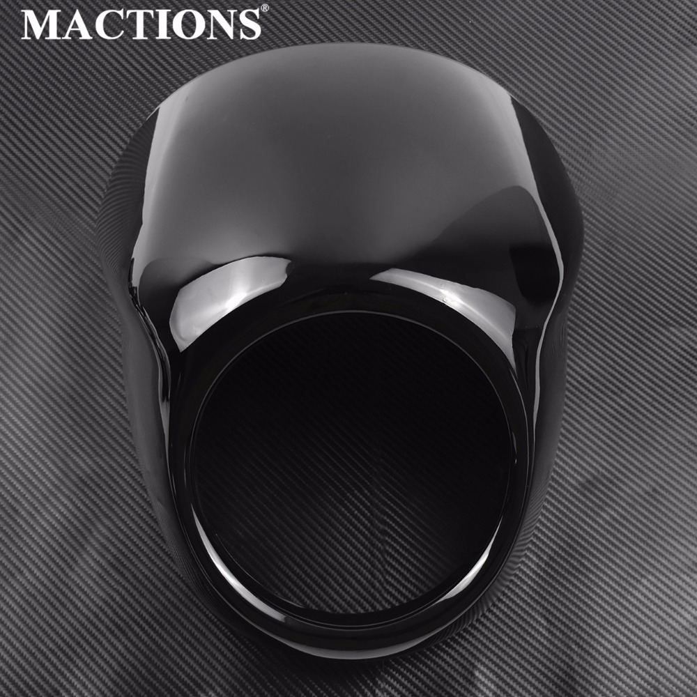 Moto Gloss Noir Phare Visière Carénage Cover Head Cover Pour Harley Street Xg500 750 2014 2015 2016 2017