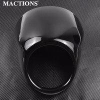 Motorcycle Gloss Black Headlight Faring Visor Cover Head Cover For Harley Street Xg500 750 2014 2015 2016 2017