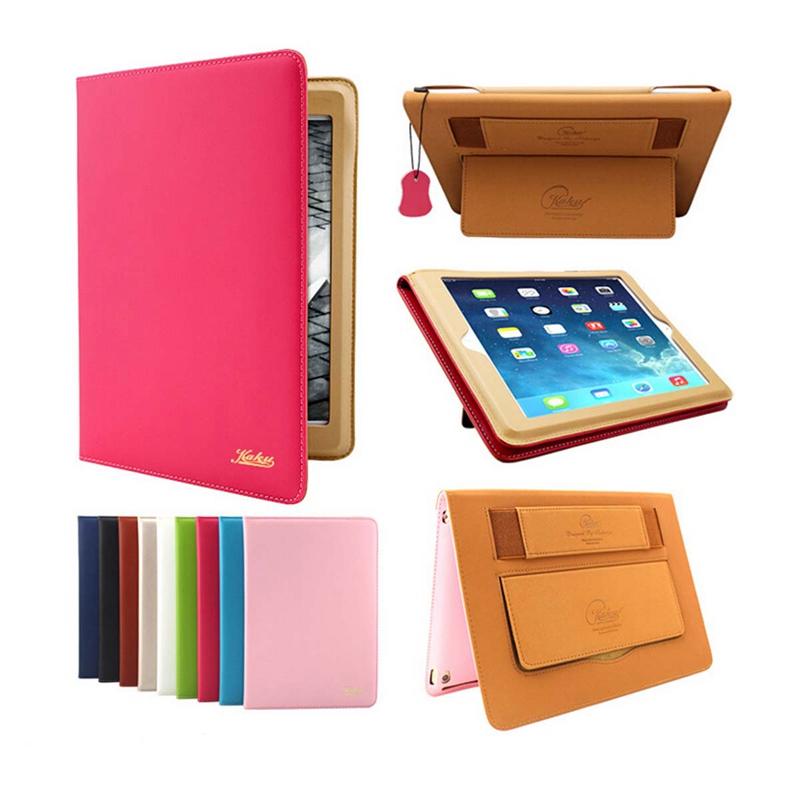 Excellent Quality Original 360Degree Protective Case PU Leather Ultra Thin Slim Smart Stand Holder Case Cover For iPad Air/Air 2