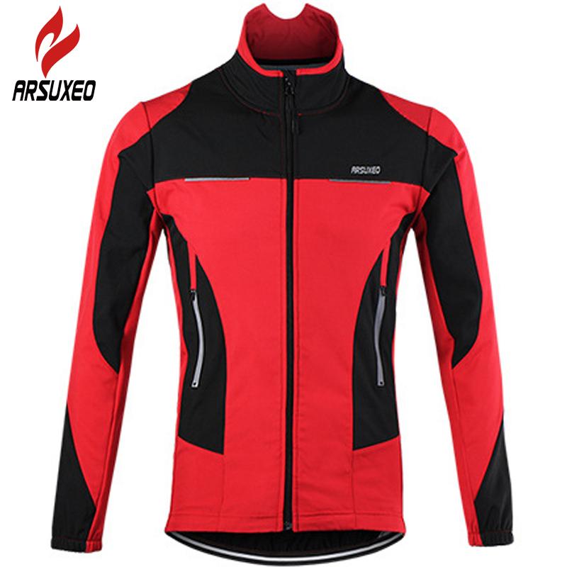 Prix pour Arsuxeo vélo veste 2017 hommes thermique vtt vélo vélo motocross descente coupe-vent imperméable vestes maillot clothing manteau 51