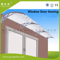 YP120300 120x300cm Polycarbonate Awning Window Awning Door Canopies Depth 120cm Width 300cm