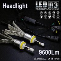 JGAUT R3 9600lm Car LED Headlight XHP50 Kit H1 H3 H4 H7 H9 H11 H13 9005 HB3 9006 HB4 Automobiles Headlamp Fog Lamps White Canbus