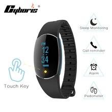 Cyboris Bluetooth Sensible Contact Display screen Bracelet Sensible Band Coronary heart Charge Monitor Health Wristband Name Reminder for Android iOS