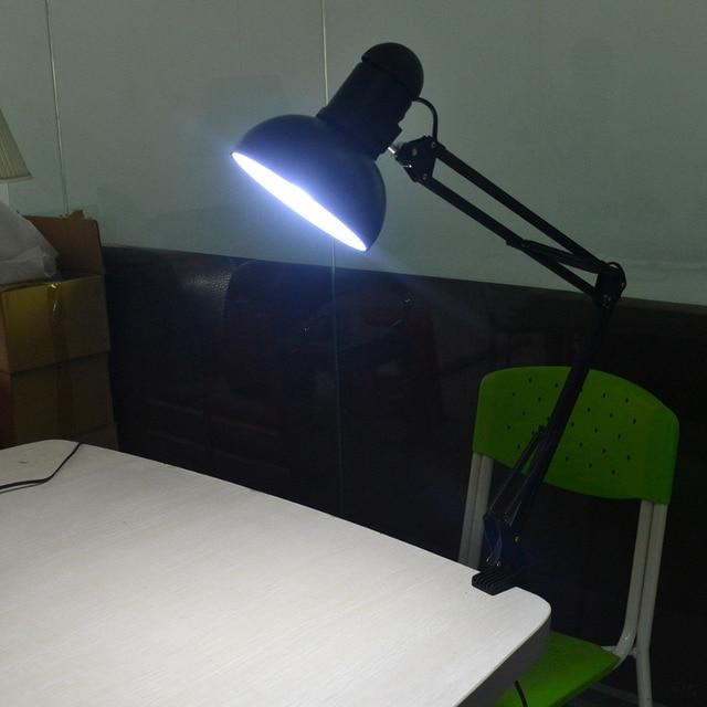 Foldable Led Desk Lamp Flexible E27 Clip Table Light Reading Studying Book For Home Office