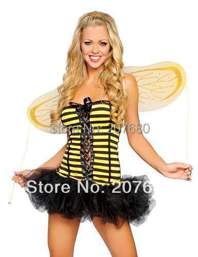 Angel with wings stage clothes Birthday Party Bumble Bee Themed costumes Cosplay Costume Fancy dress for women
