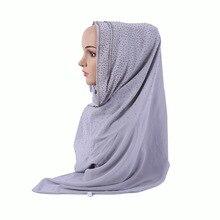 muslim hijab scarfMuslim scarf national wind fashion female Pearl chiffon rhinestones explosions Islamic Cap wholesale