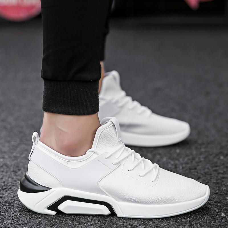 UNN New Arrivals Men Running Shoes White PU Былғары - Кроссовкалар - фото 2
