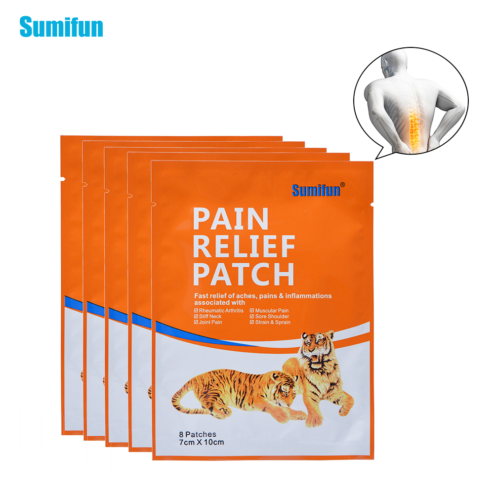 40Pcs Far IR Treatment Porous Analgesic Chinese Medical Plaster Tiger Neck/Shoulder/Waist/Leg/Joint Pain Relief Patch D0640 56pcs 7bags far ir treatment tiger balm plaster muscular pain stiff shoulder patch relief spondylosis health care product c204