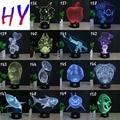 HY No.136-150 Controle Remoto 7 Cores Mudando Luzes Da Noite LED 3D Mesa Candeeiro de mesa de Decoração Para Presentes