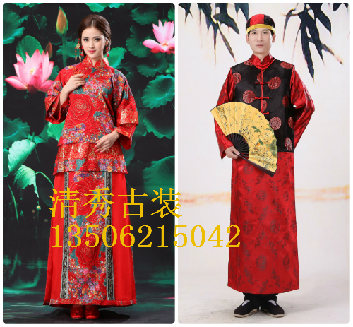 Free shipping men and women lovers clothing in ancient for Traditional chinese wedding dress hong kong