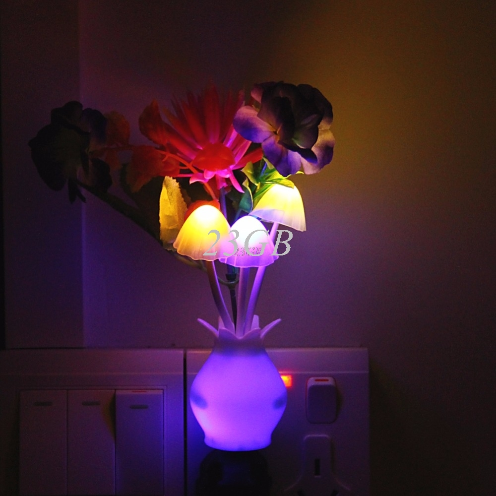 US Plug Sensor Night Light LED Lamp Romantic Colorful Home Decor Lotus Flower APR29_15US Plug Sensor Night Light LED Lamp Romantic Colorful Home Decor Lotus Flower APR29_15