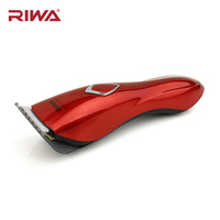 RIWA Professional Hair Trimmer Waterproof IXP 7 Washable Hair Clipper Cutting Machine Haircut Rechargeable Hot Red