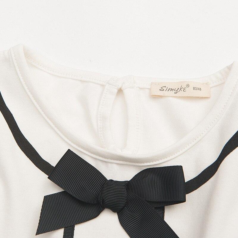 Dziewczynek bluzka Top Biała dziewczynka bluzka 2018 Letnie na co - Ubrania dziecięce - Zdjęcie 3