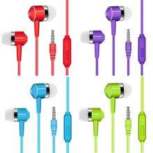 Auriculares deportivos de 8 colores con Cable Super Bass, auriculares coloridos con grietas de 3,5mm con micrófono, manos libres para Samsung