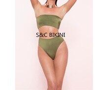 no bra-pad & push up bikini middle waist
