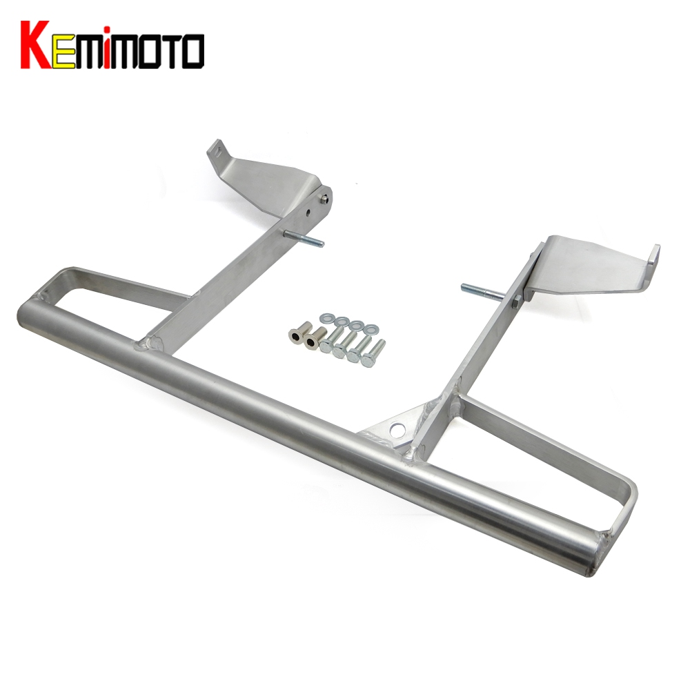 KEMiMOTO Aluminum Wide Grab Bar Rear Pasanger Grab Bar for YAMAHA RAPTOR 700R 700 R 700R SE ALL YEARS Silver kemimoto for yamaha raptor 700 billet aluminum atv front lowering kit and rear lowering kit silver