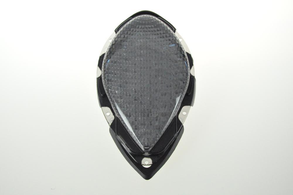 Светодиодный Встроенный задний фонарь сигнала поворота для YAMAHA Road Star зоны подушки безопасности для 04-08 - Цвет: Темно-серый