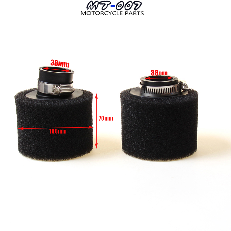 Free shipping 38MM Sponge Air Filter Cleaner SSR Coolster Thumpstar Xtreme SDG UPC 50 70 90CC Pit Dirt Bike Motorcycle