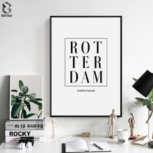 Scandinavia Fresh Plant Wall Art Canvas Poster Print Rotterdam Netherlands Nordic Decoration Painting Decorative Picture