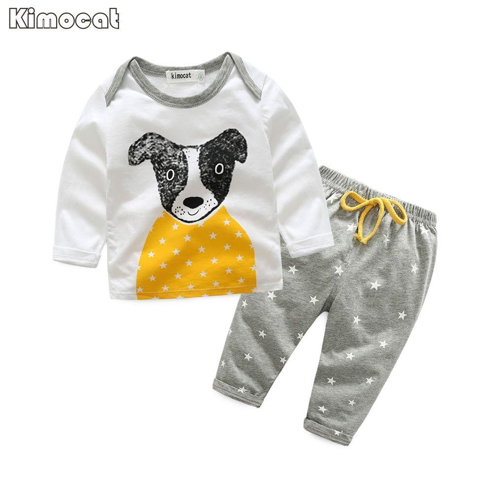 Kimocat Brand Baby Boy Киім 2 дана Infant Jumpsuit Long - Балаларға арналған киім - фото 1