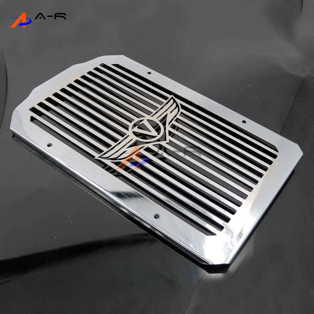 Motorcycle Engine Radiator Cover Bezel Grille Guard Protector for Kawasaki VN900C Vulcan 900 Custom 2007-2014 13 12 11 10 09 08 chrome motorcycle accessories engine radiator bezel grille protector grille guard cover for kawasaki z900 2017