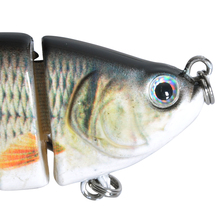 Fishing Lure  3D Eyes 6-Segment Fishing, Hard Lure Crank-bait (2 Pieces)
