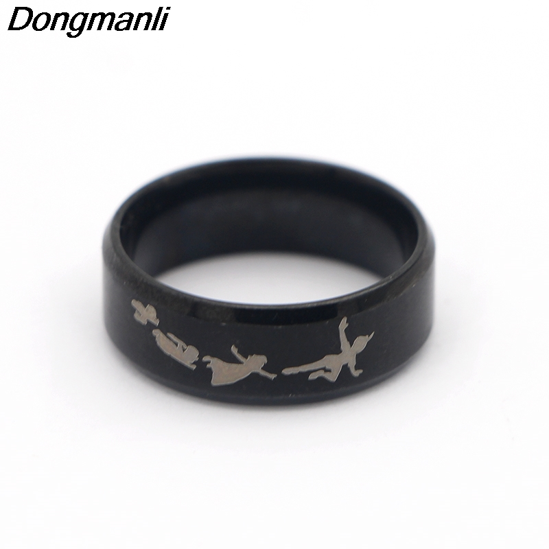 P1802 Dongmanli 2018 New Punk Style Rings Steampunk US Movie Never Grow Up Peter Pan Ring Mans Gifts Moive Jewelry For Fans
